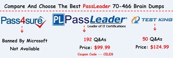PassLeader 70-466 Brain Dumps[27]