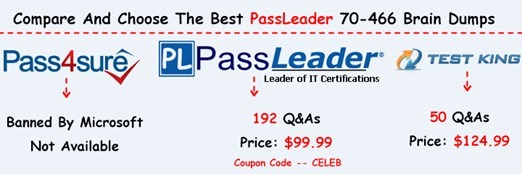 PassLeader 70-466 Brain Dumps[30]